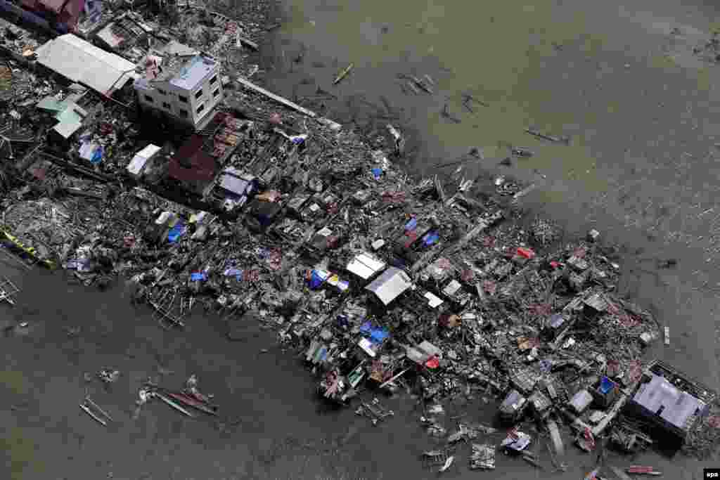 Последствия тайфуна в провинции Самар