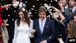 Пол Макртни со новата сопруга Ненси Шевел, октомври 2011.