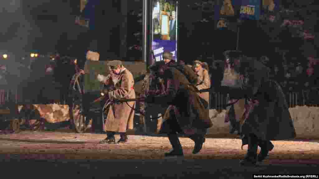 Атака. Воїни УНР атакують оборонні конструкції більшовиків