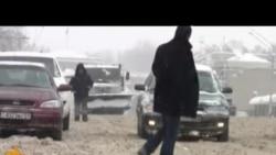 Снегопад в Душанбе
