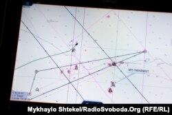 Закрита для судноплавства ділянка Чорного моря і курс корабля Морської охорони – не заходить на неї
