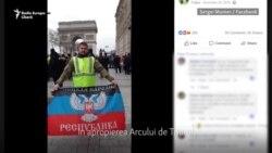 """Luptători din Donbas, observați printre """"vestele galbene"""" de la Paris"""