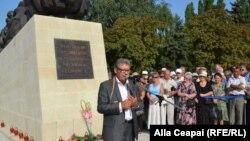 La inaugurarea monumentului dedicat victimelor stalinismului din Moldova