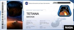 Так виглядає «посадковий талон» для імен, які будуть розміщені на мікрочіпі NASA