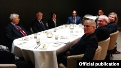 Էդվարդ Նալբանդյանը Մինսկի խմբի համանախագահների հետ հանդիպմանը, Բազել, 4-ը դեկտեմբերի, 2014թ․