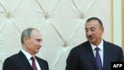 Vladimir Putin və İlham Əliyev.