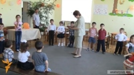 Armenia - Children at the Chinari village kindergarten, 08Jun2012.