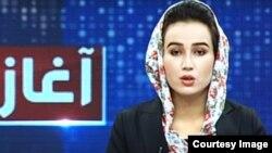 Ariana News female anchor Mina Khairi, who was killed in a Kabul blast on June 3.