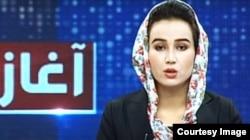Mina Khairi, a female anchor for Ariana News, was killed in a blast in Kabul on June 3: