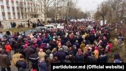 Protestul Partidului Șor la Curtea de Apel Chișinău. 10 martie 2020