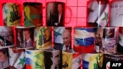 Кружки с портретами Путина и Асада продаются в Дамаске