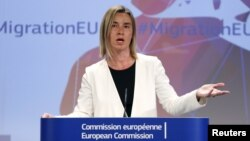 ЕБнын тышкы саясат боюнча комиссары Федерика Могерини. 13-май, 2015