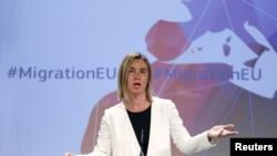 Федерика Могерини. Брюссель, 13-май, 2015-жыл