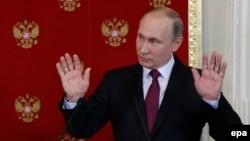 Владимир Путин Кремлдеги маалымат жыйынында, 11-апрель 2017-жыл.