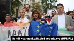 Ребекка Гармс у числі учасників акції в Києві, 17 червня 2018 року.