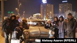 Участники съемочной группы. Астана, 21 декабря 2012 года.