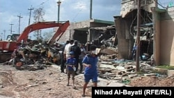 Pamje pas ekspldimit afër një xhamie në Kirkuk të Irakut