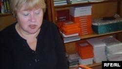 Загадчыца бібліятэкі Валянціна Ўладзімераўна расказвае пра беларускую літаратуру для невідушчых людзей.