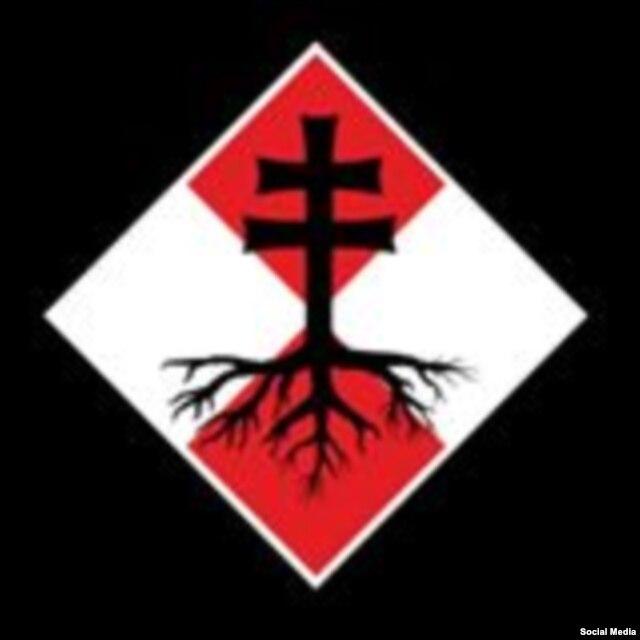 """Эмблема военизированной организации """"Словацкие новобранцы"""", известной своей пророссийской позицией"""