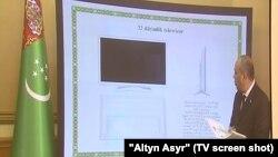 Türkmenistanda öndürilmegi göz öňünde tutulýan smart telewizor.