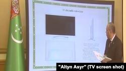 Телевизор произведенныйв Туркменистане