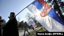Protest u beogradu nakon oslobađajuće presude hrvatskim generalima