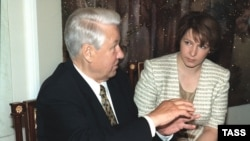 Первый президент России Борис Ельцин и его дочь Татьяна Дьяченко