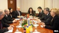Средба на вице премиерот Муса Џафери со генералниот секретар на ОБСЕ Ламберто Заниер во Скопје.