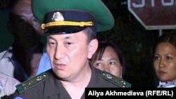 Полковник Тұрғанбек Стамбеков, ҰҚК шекара қызметінің директоры міндетін орындаушы. Үшарал, 26 шілде 2012 жыл.