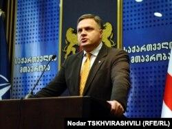 Грузинский вице-премьер Георгий Барамидзе, Тбилиси, 27 октября