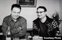 Іван Мележ і Генадзь Бураўкін. 1972 г.