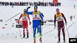 Қазақстандық шаңғышы Алексей Полторанин (6) Италиядағы Tour de Ski жарысында. 6 қаңтар 2018 жыл.
