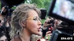 Российская телеведущая Ксения Собчак.