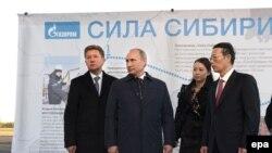 """Путин на запуске строительства газопровода """"Сила Сибири"""""""
