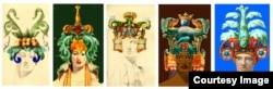 Эскизы шапок Ольги Тобрелутс, 1988