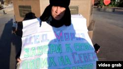 Гражданский активист Эрик Жумабаев. Уральск, 24 декабря 2019 года.