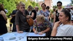 Активисты собирают подписи в защиту своих требований, 5 августа 2018