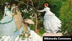 """Клод Моне """"Женщины в саду"""" (фрагмент)"""