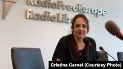 Cristina Cernei la sediul Europei Libere de la Praga