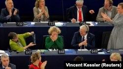 Judith Sargentini az Európai Parlament strasbourgi ülésén, 2018. szeptember 12.