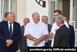 Аляксандар Лукашэнка падчас паездкі ў Гомель 10 жніўня 2018 году.