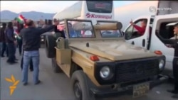 Peshmerga Military Convoy Enters Turkey En Route To Kobani