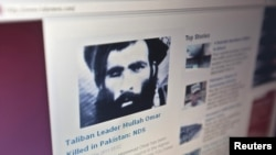 The Tolonews website runs a story on its front page reporting about news of the death of Taliban leader Mullah Mohammad Omar in Kabul on May 23, 2011