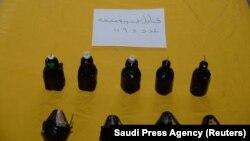 Material exploziv confiscat în timpul misiunii.
