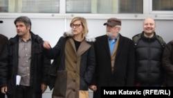 Faruk Lončarević, Jasmila Žbanić, Haris Pašović i Srđan Šarenac, foto: Ivan Katavić