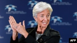 IMF chief said that pledges from the BRIC group of countries had helped reach the fundraising goal.