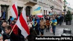 Акція на підтримку Євромайдану у Варшава, 8 грудня 2013 року (фото: Віталій Тукало)