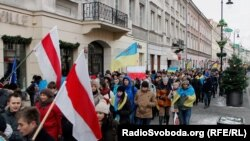 Акція на підтримку Євромайдану, Варшава, грудень 2013 року (фото: Віталій Тукало)
