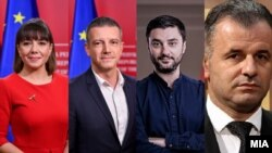 Мила Царовска, Дамјан Манчевски, Марјан Забрчанец и Висар Ганиу
