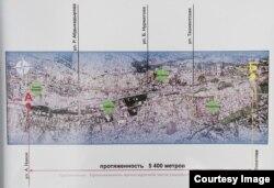 Проект охватит оба берега реки Ак-Буура – примерно пять километров.